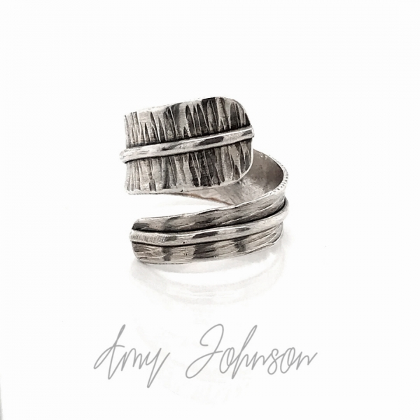 Sterling Silver Textured Bypass Ring