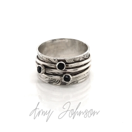 Three Spinners With Swarovski Crystals Spinner Ring