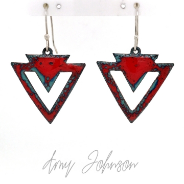 Vibrant Red Triangles