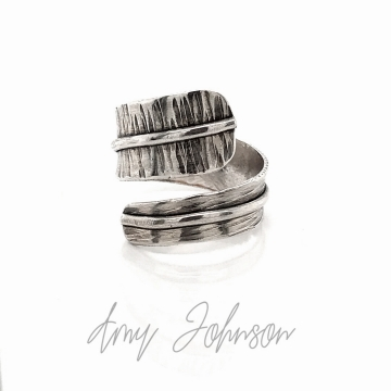 Sterling Silver Textured By Pass Ring