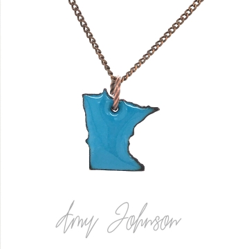 Choose Your Color Mini Minnesota State Necklace